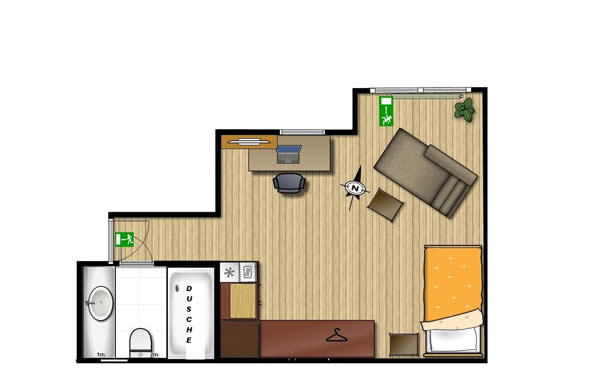 Business Apartment + Boardinghouse Baan Arun Remchingen